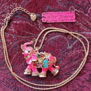Betsey Johnson elephant necklace